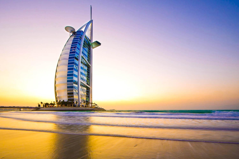 Picture of the Burj Al Arab Jumeirah Hotel in Dubai